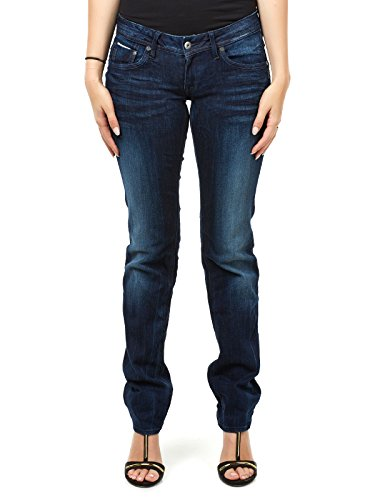 G-STAR RAW Damen Attacc Mid Straight Jeans, Blau (dk Aged 6160-89), 34W / 32L