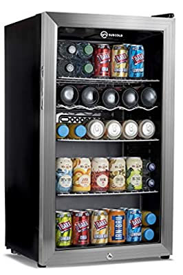 Subcold Super85 LED - Under-Counter Fridge | 85L Beer, Wine & Drinks Fridge | LED Light + Lock and Key | Low Energy A+ (Silver, 85L) by Subcold