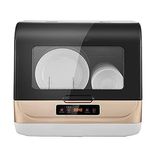 DGDD Mini Lavastoviglie - Lavastoviglie Compatta da Tavolo 45cm Portatile da Appoggio 3 Programmi, Controllo Intelligente, Display LED, Disinfezione Pulizia a 360° per Casa, Appartamento,d'oro