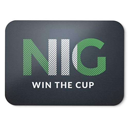 BLAK TEE Nigeria Will Win The Football Cup Mouse Pad 18 x 22 cm in 3 Colours Black