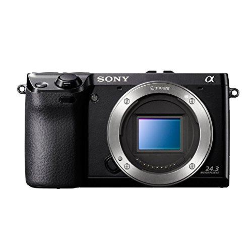 Sony NEX7KB - Cámara compacta de 24.3 MP (Pantalla de 3 Pulgadas, estabilizador de Imagen) con Lente Intercambiable de 18-55mm, Color Negro