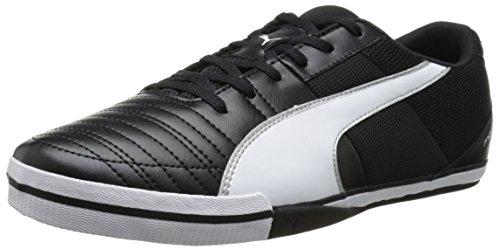 PUMA Men's Momentta Vulc Sala II Sneaker, Black/White, 13 M US