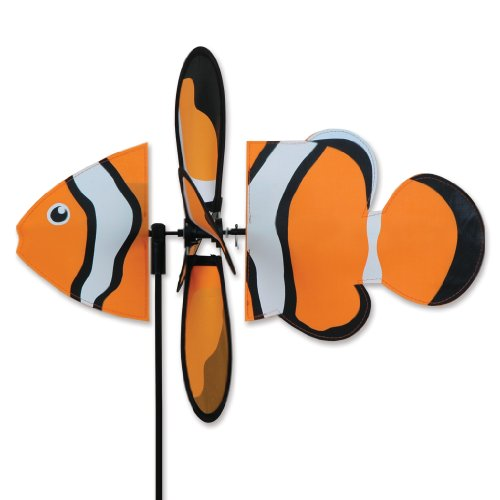 Premier Kite Petite Spinner-Clownfish Girouettes animalieres, Orange