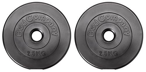 Bad Company Hantelscheiben Kunststoff ummantelt I 30/31 mm I 2 x 2,5 Kg