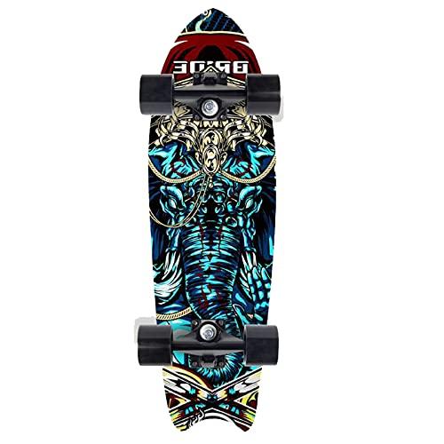 CUTEY Skateboard De 28 Pulgadas, Tabla De Surf De Surf Professional, City Street Land Cruiser Skateboard Completo, Regalos para Adultos, Niños, Surfistas,No. 3