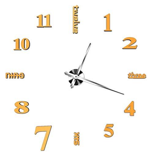 Irinay Acrylic Modern Silent Wall Clock Chic Casual Diy Funk Wanduhr 3D Mirror Surface Sticker Home Office Decor Decal 3D Stickers Roman Numerals Wall Clock Home Office Removable Decoration For Living