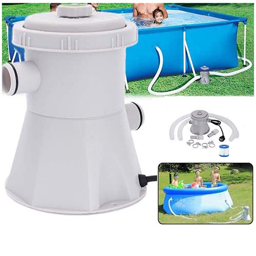 YONGQING Swimming Pool Filter Pump,Water Cleaner Filter Pump,Electric Water Pump Cartridge Filter Pump for Above Ground Pools Cleaning Tool,110-120V