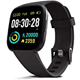 MorePro Smart Watch IP68 Waterproof Activity Tracker with Heart Rate Blood Pressure Monitor, Sleep Tracking Fitness Watch with Android & iOS Calorie Step Counter Touch Screen for Women Men(Black)