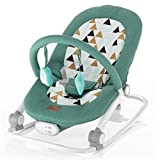 ZOPA Schaukelwippe RELAX - babywippe babyliege (Mint triangles)