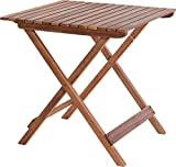 Fair-Shopping Gartentisch Campingtisch aus Akazien-Holz Faltbar Beistelltisch Balkon-Tisch Klapptisch Klappbar V340