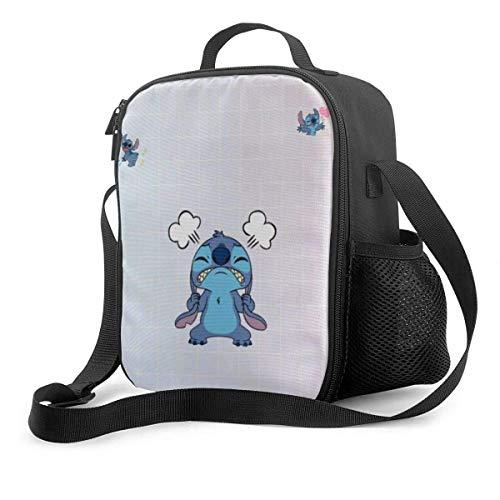 XCNGG Dibujos animados Li-lo Sti-tc-h - Bolsa de almuerzo con aislamiento Tote Reutilizable Picnic Lunch Cooler Bag Viaje Trabajo Playa Navegación Fiambrera portátil para mujeres / hombre / Picnic / P