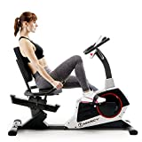 Marcy Regenerating Recumbent Exercise Bike with Adjustable Seat, Pulse Monitor...