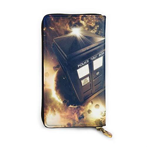 Tardis Doctor Who Geldbörse, RFID-blockierend, Echtleder, mit Reißverschluss