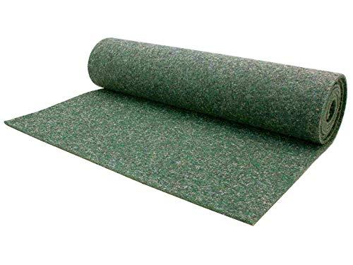 Nadelfilz Meterware MERLIN - Grün, 2,00m x 3,00m, Robuster, Trittschalldämmender Teppich Bodenbelag für Wohn- und Büroräume