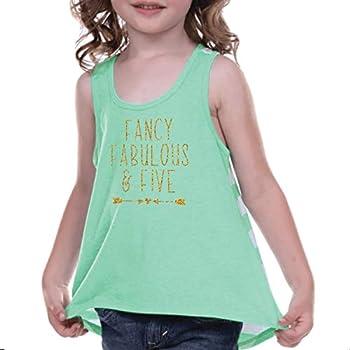 Girl 5th Birthday Shirt Five and Fabulous Shirt Green