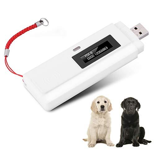 Microchip Scanner Portable Pet Tracking Finder RFID 134.2Khz unterstützt ISO11784 / 11785 FDX-B und EMID, USB Ladegerät