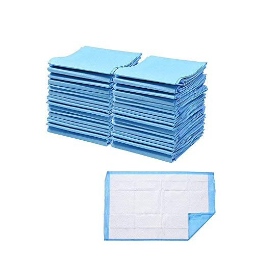 Freeas Disposable Underpads 13 x 17.7 inch, 50 Pack Highly Absorbent Bed...