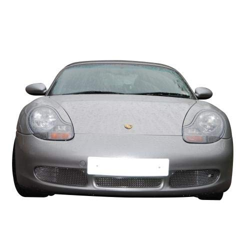 Zunsport Compatible with Porsche Boxster S 986 - Front Grill Set - Silver Finish (1996 to 2004)
