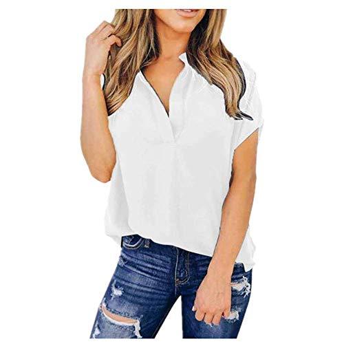 Tops para mujer y blusas de verano de gasa de manga corta casual camisa de señora blusa camiseta de mujer