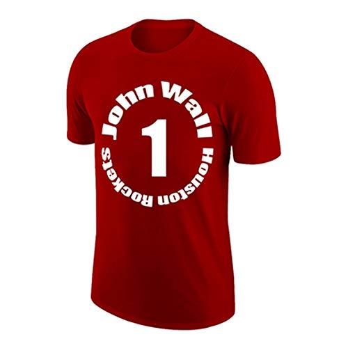HYYYH Chaleco Exterior de algodón Unisex Camiseta Divertida de John Wall # 1 Camisetas de Entrenamiento para Aficionados al Baloncesto (Color : White, Size : XXXL)