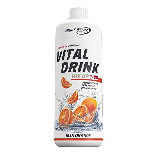 Best Body Nutrition Vital Drink Blutorange, Getränkekonzentrat, 1000 ml Flasche