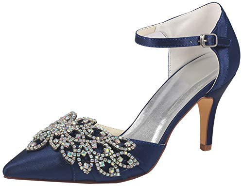 Emily Bridal Chaussures de Mariage pour Femmes Deep...