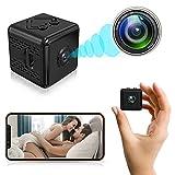 LOVVIY Mini Telecamera Spia Nascosta, Full HD 1080P Microcamera con Visione Notturna e Sensore di Movimento, Telecamera Videosorveglianza con Registrazione, Spycam Wifi Senza Fili per Esterno/Intern