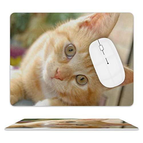 Alfombrilla de ratón de piel para escritorio y portátil, 25 x 20 x 2 cm.