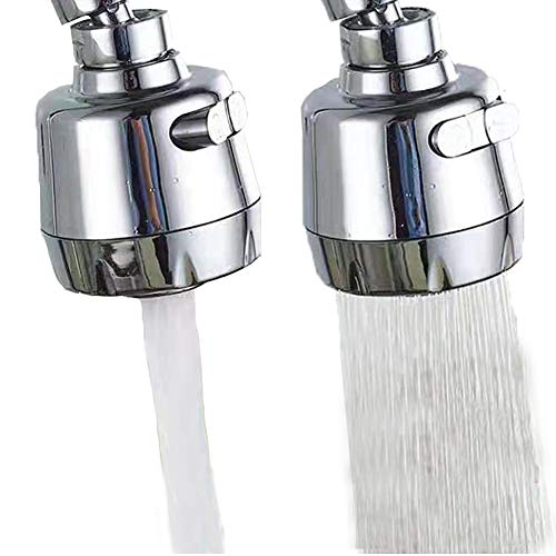 360 -Degree Swivel Kitchen Sink Faucet Aerator Water Saving Tap Aerator Faucet Nozzle for Kitchen, Bathroom Faucet (Shorter Style 1PC)