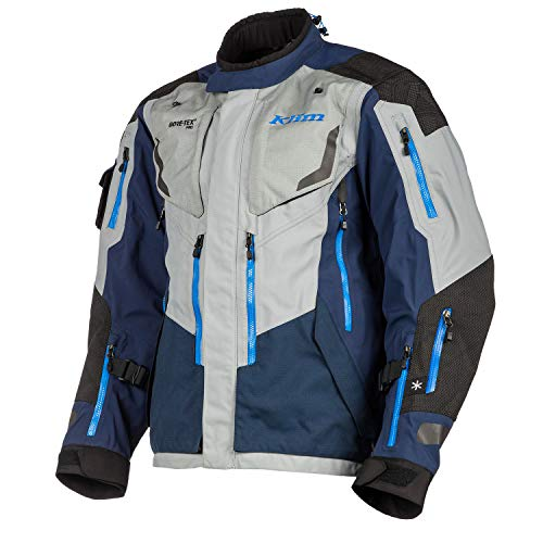 Klim Badlands Pro Motorrad Textiljacke Grau/Blau XL