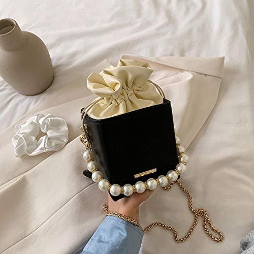 PANZZ Crossbody Bags Women Drawstring Shoulder Handbags Female Travel Summer Cross Body Bag, Black, Mini