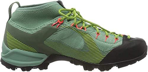Salewa WS Alpenviolet Gore-TEX Trekking- & Wanderstiefel, Grün (Feld Green/Fluo Coral 5585), 37 EU