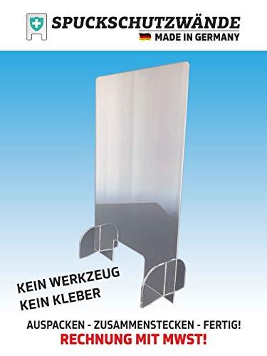 DER WERBEMARKT Spuckschutz Niesschutz Schutzscheibe Virenschutz Thekenaufsatz Plexiglas Acryl (100 x 120 cm)