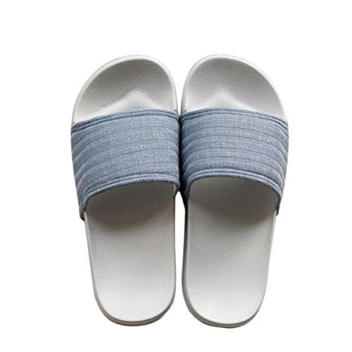 ZZY Maison Pantoufles Hommes et Femmes Douche Sandale Slipper Indoor Slide Chaussures De Bain Unisexe Pour Salle De Bains Plancher Natation Chaussures, blue, 37/38