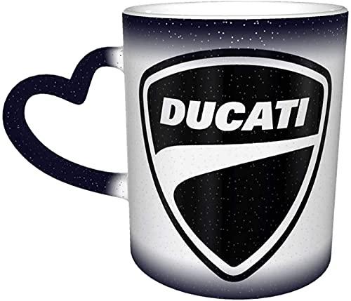 Du-Cati - Taza de cerámica con el logotipo del Him/Her (sensible al calor, cambia de color)