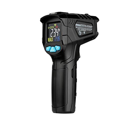 KKmoon Digitales Infrarot Thermometer -50-800 ° C Pyrometer berührungslos Temperaturmessgerät Temperaturmesser mit LCD Beleuchtung