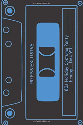 "80s Tape Deck Notebook: Retro Composition, 6"" x 9\"", 120 pages"