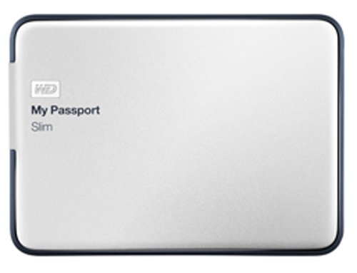WD My Passport Slim 2TB Portable Metal External Hard Drive USB 3.0 with Auto Backup