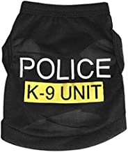 Mumoo Bear Dress Clothes POLICE Shirt Vest Costume for small Dog Puppy Cat Fancy Paws - Size S