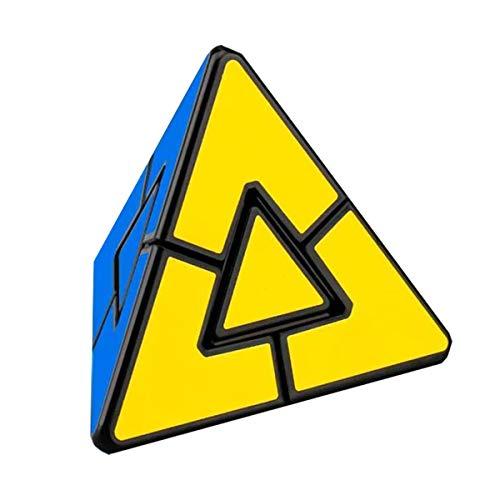 YING Cubo de Superficie esmerilada tetraedro Triangular Triangular en Forma de pirámide Irregular, Juguete Educativo para niños, Negro