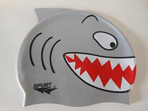 Kinder Badehaube Schwimmhaube Badekappe (Hai) Stoffhaube Haube Swim Cap