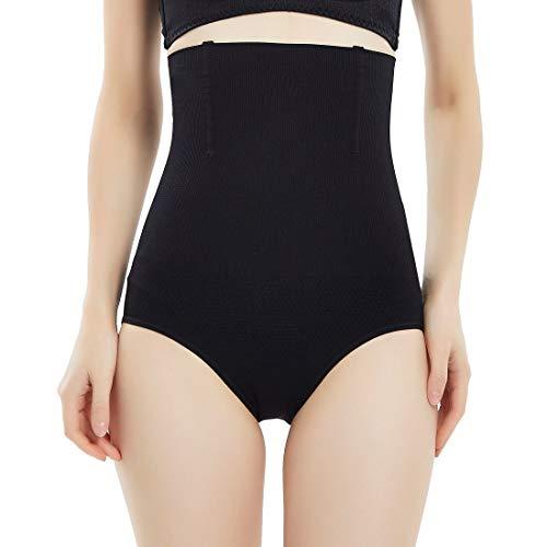 SYTUNG Women Waist Cincher Girdle Tummy Control Shapewear Thong Panty Slimmer Body Shaper (Black, Medium - Large)