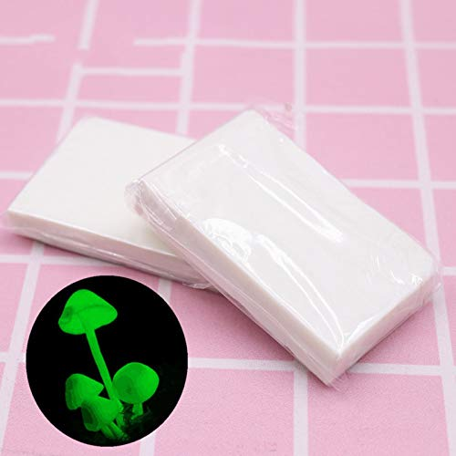 DIY Modelliermasse, fluoreszierend, hell, weiß, lufttrocknend, 60 g