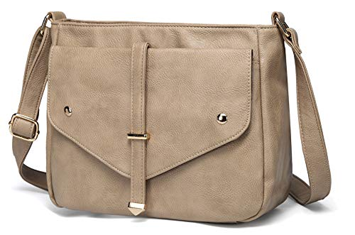 Crossbody Bags for Women,VASCHY Vegan Leather Fashion Handbag Purse Shoulder Bag