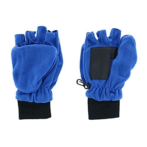 Grand Sierra Boy's 8-18 Sport Fleece Convertible Mitten to Glove, Blue