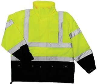 ML Kishigo RWJ102 Storm Cover High-Viz Rainwear Jacket, Fits 2X-Large and 3X-Large, Lime