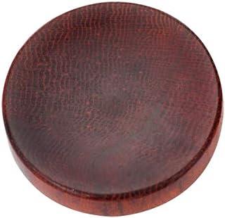 VKO handgefertigter Weichen Auslöseknopf Klebstoff geklebte Kamera Taste für Sony A7RIII A7III RX100 IV A6000 A6300 A6400 A6500 X T100 X T1 Konkaver Oberfläche Rot 1 Stück (Zufällige Holzmaserung)