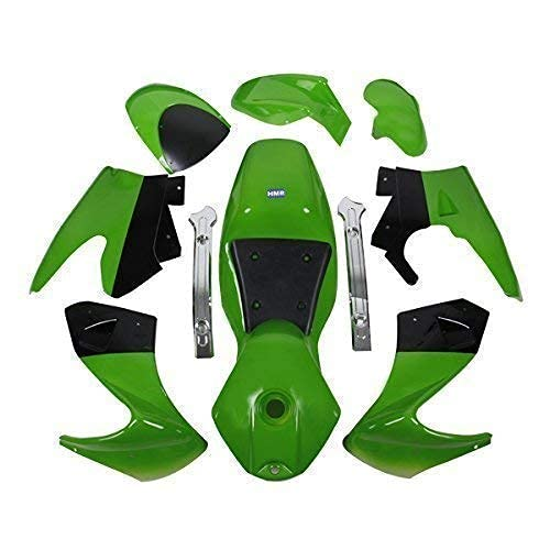 HMParts Pocket Bike Verkleidung Set komplett (grün/schwarz)