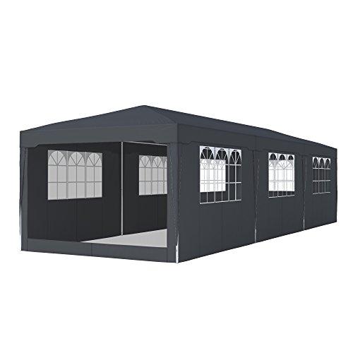 paramondo Garden Gazebo 3 x 9 m incl. 7x Window Sidewall, 1x Mosquito Net Sidewall, Anthracite