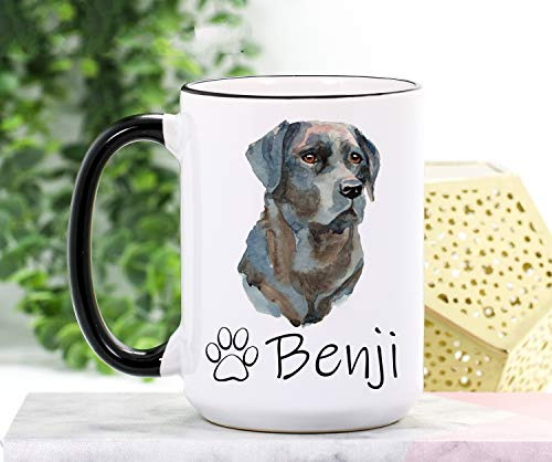 Taza de laboratorio negra de laboratorio negro de laboratorio de laboratorio negro taza de café de laboratorio de laboratorio mamá taza de laboratorio regalo personalizado perro dueño perro taza café